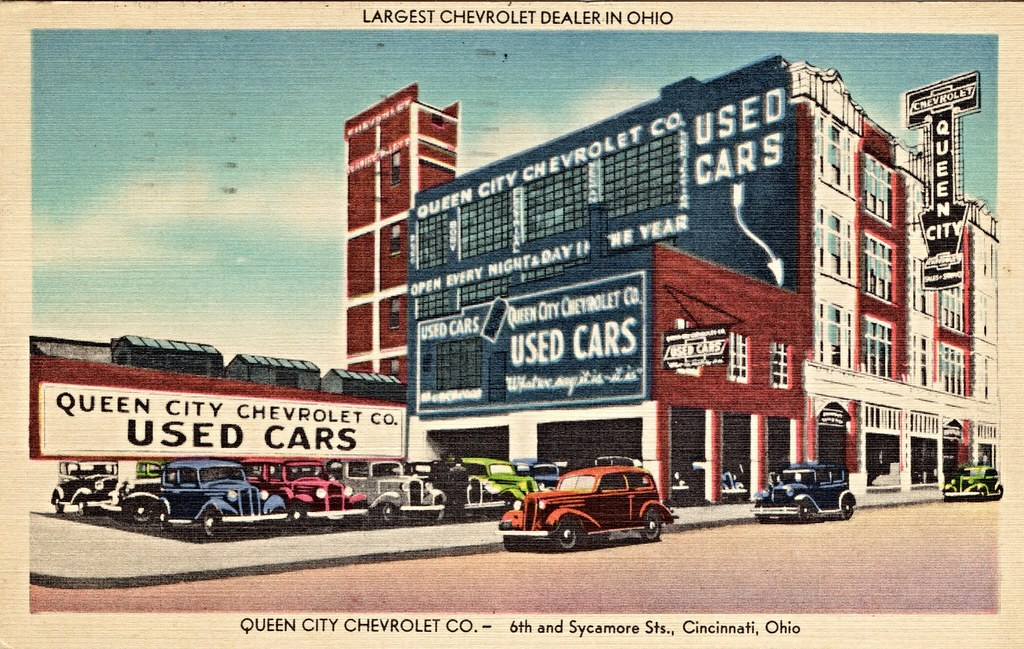 queen city chevrolet 6th sycamore cincinnati oh 1930s flickr. Black Bedroom Furniture Sets. Home Design Ideas