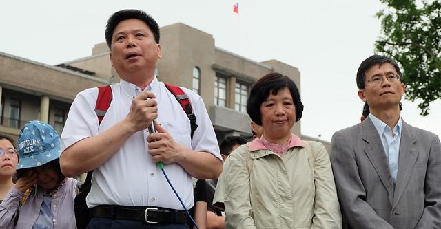 左起:政治大學地政系教授徐世榮、彭秀春、詹順貴  攝影:陳文姿
