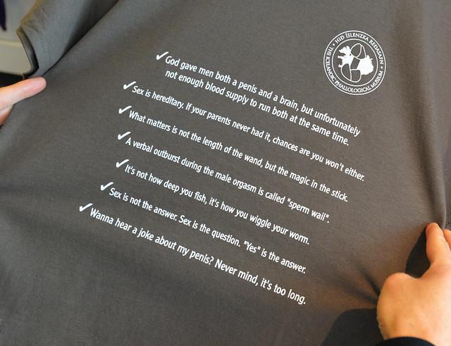 Camisetas relativas al frases de la faloteca islandesa