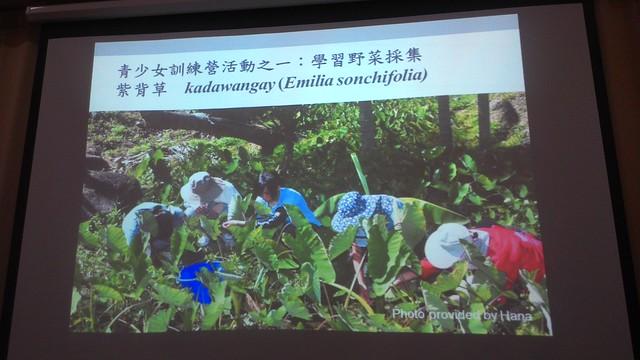 都蘭部落特有的青少女訓練營,安排野菜採集課程以傳承文化。攝影:林倩如。
