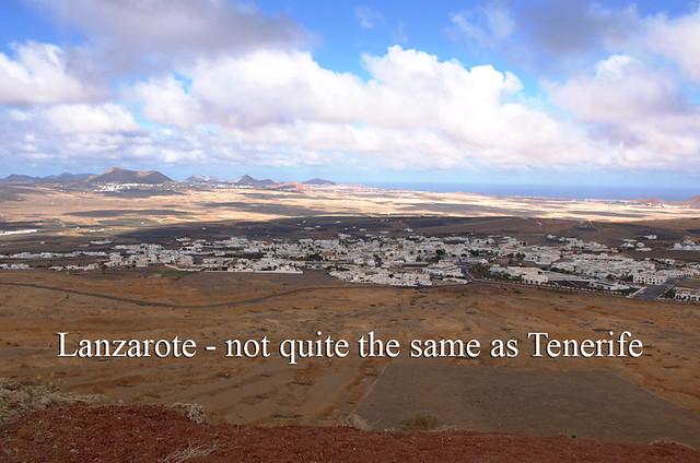 Lanzarote not Tenerife