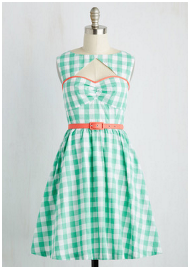 gingham dress modcloth