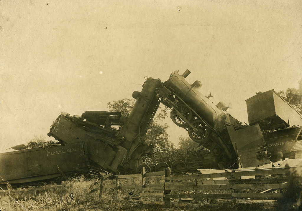 Head On Wreck On The Panhandle Railroad October 18 1903