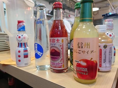 除了麵外也可以選不同的飲料, 都是日本製的
