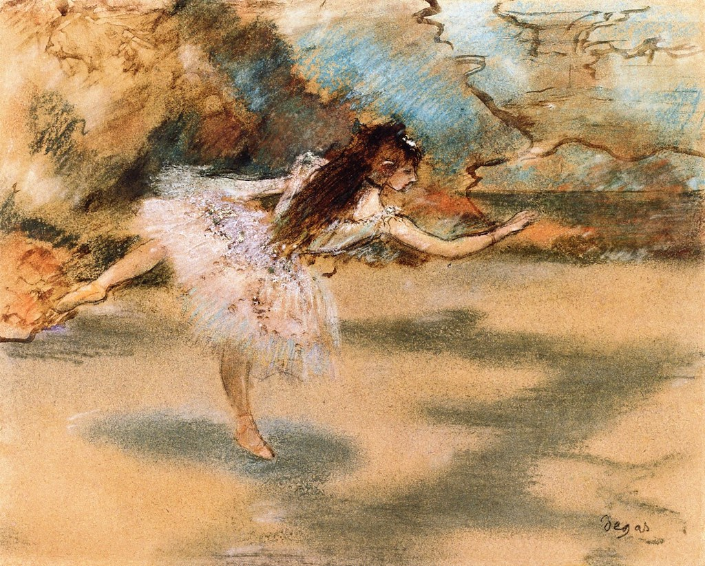 Dancer on Point by Edgar Degas, c.1877
