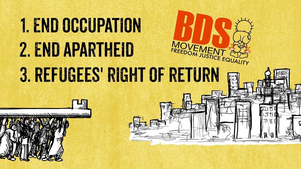 國際上的進步力量多支持BDS運動,呼應抵制以色列,直到終結對巴勒斯坦的佔領。但台灣——即便是社會運動(如同志運動)——似乎始終自外於這個視野。(圖片來源:BDSmovement)