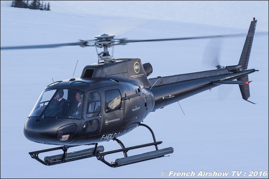 Eurocopter AS-350 B2 - F-HDLC, Azur Hélicoptère SARL, Salon Hélicoptère à Courchevel 2016, Meeting Aerien 2016