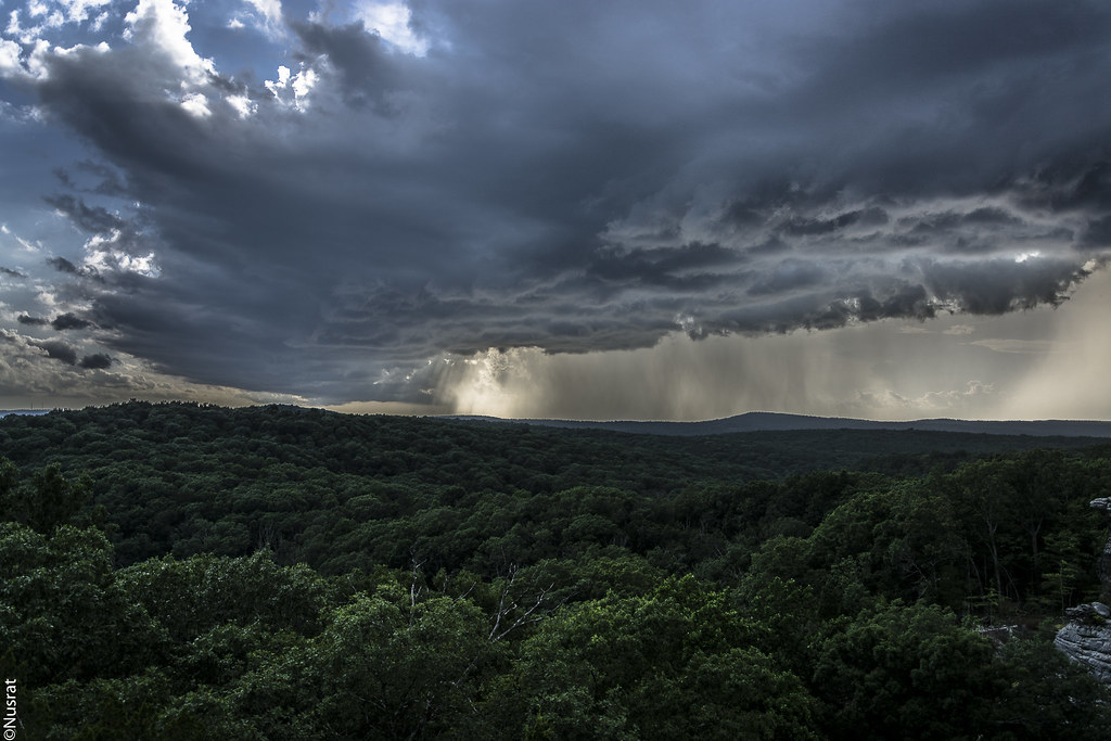 Rain Storm And Sunshine At Shawnee National Forest
