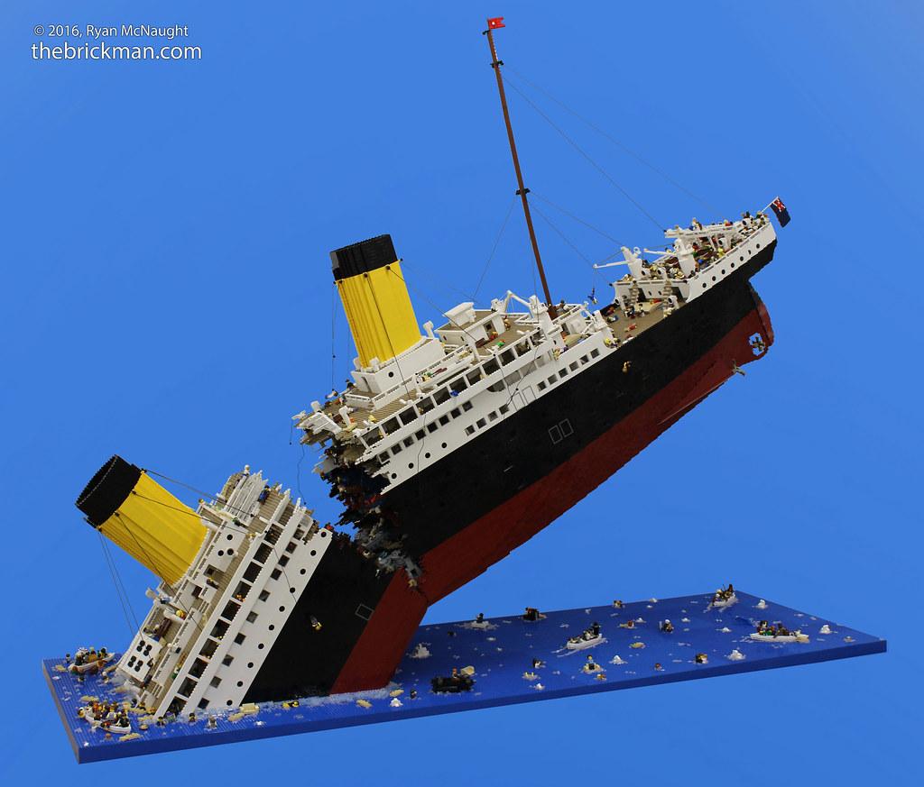 LEGO Sinking Titanic | At Brickvention in 2010 I built a 250… | Flickr