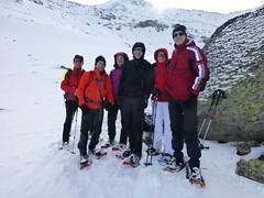 Schneeschuhwanderer im Windbachtal