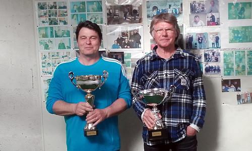 16/04/2016 - Saint Martin des champs : Les finalistes du concours de boules plombées en tête-à-tête