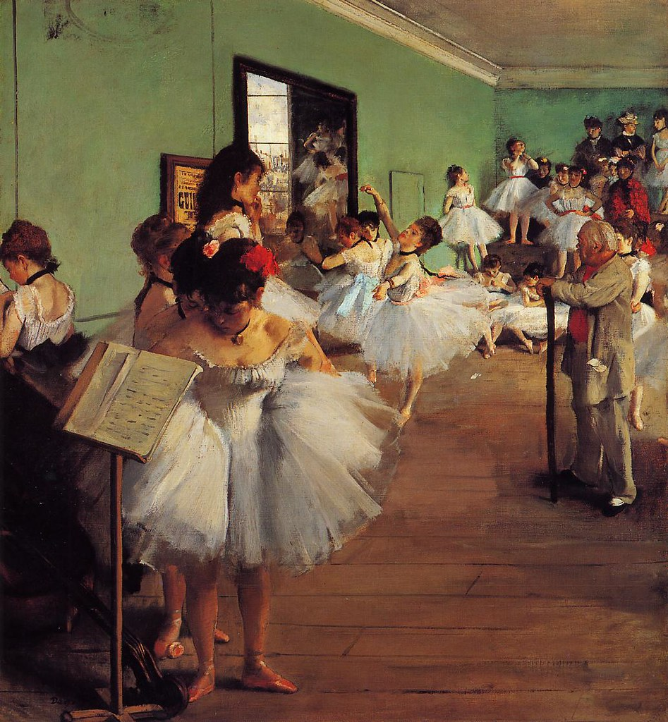 The Ballet Class by Edgar Degas, 1874