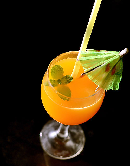 mocktail with orange and lemon