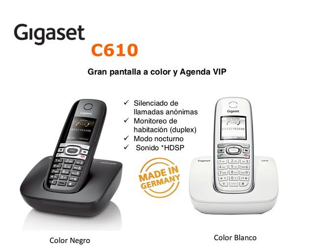 Teléfono Inalámbrico Gigaset C610