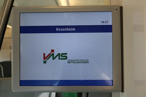 Das Logo des Verkehrsverbund Mittelsachsen wirkt in Oberbayern etwas kurios