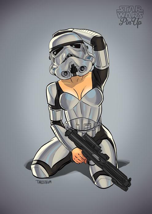 Star Wars pin-up Stormtrooper by Andrew Tarusov
