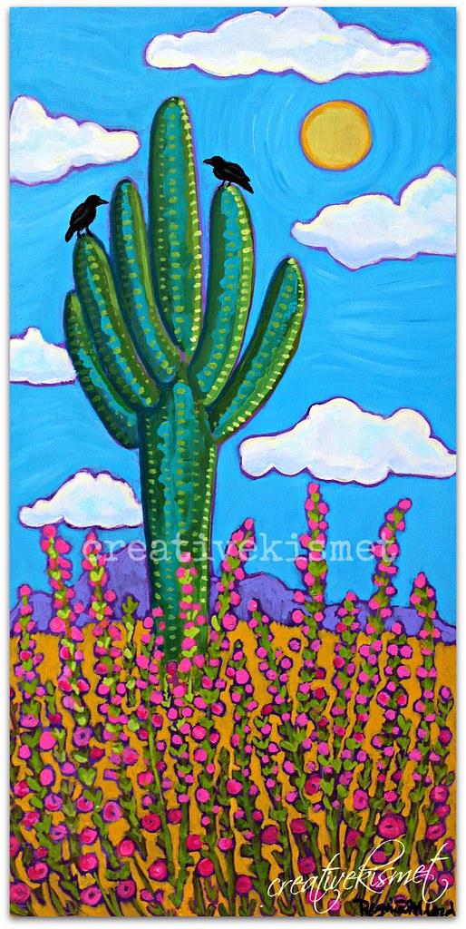 Saguaro Art by Regina Lord