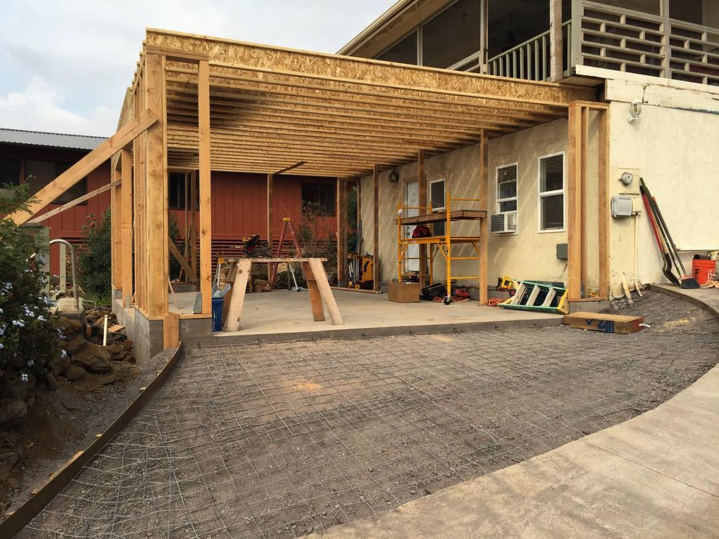 Garage Addition Framing Carpentry Driveway Form Flickr