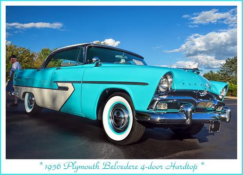 1956 plymouth belvedere 4 door hardtop the august 4 for 1956 plymouth belvedere 4 door