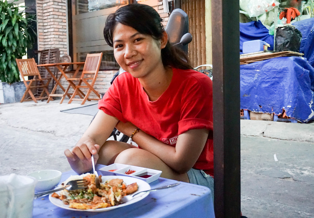 Saigon Street Food by Night Guide for Urban Adventures. Ho Chi Minh City, Vietnam, April 2016