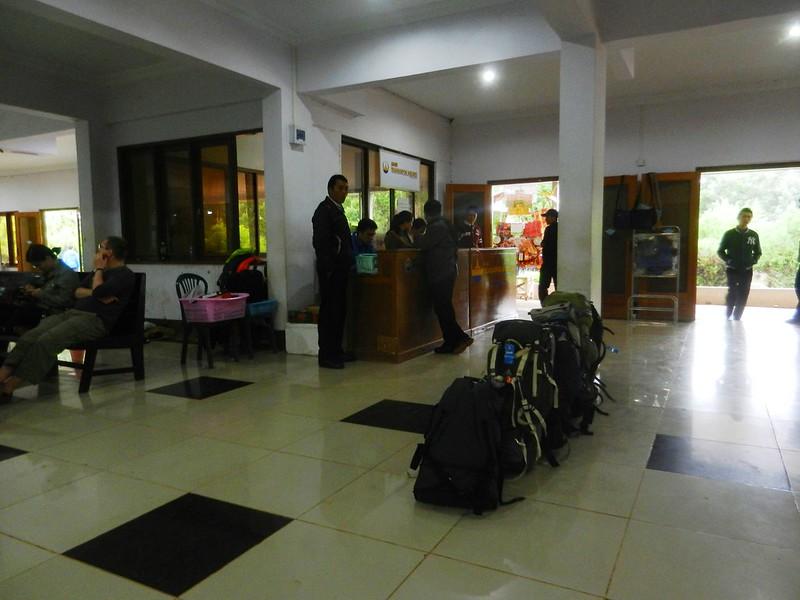 Мьянма,багаж в ожидании