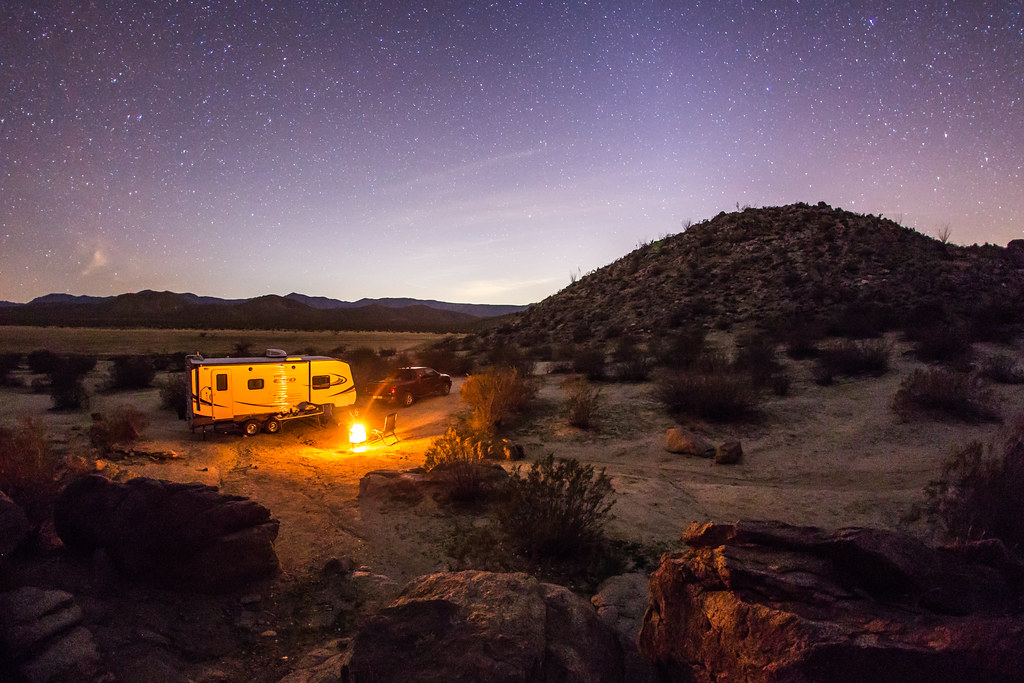 Camping In Blair Valley In Anza Borrego Desert State Park