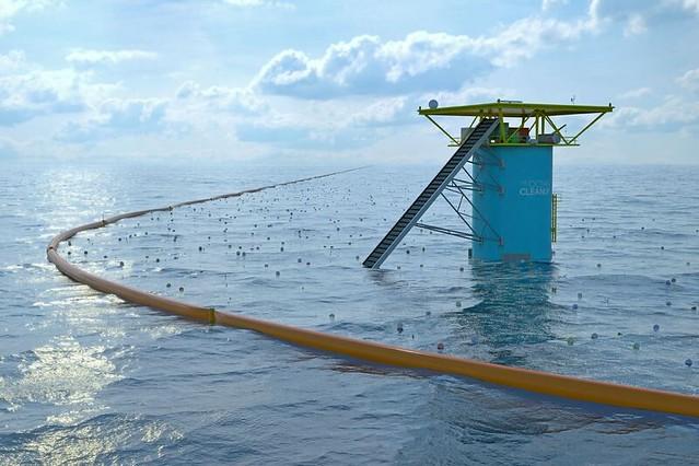 海洋清理計畫(The Ocean Cleanup)。圖片來源:The Ocean Cleanup