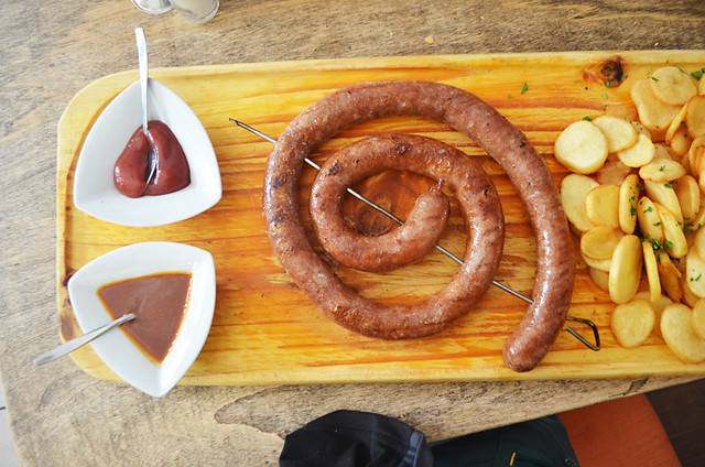 Metre long sausage, Tacoa Cerveceria, El Sauzal, Tenerife