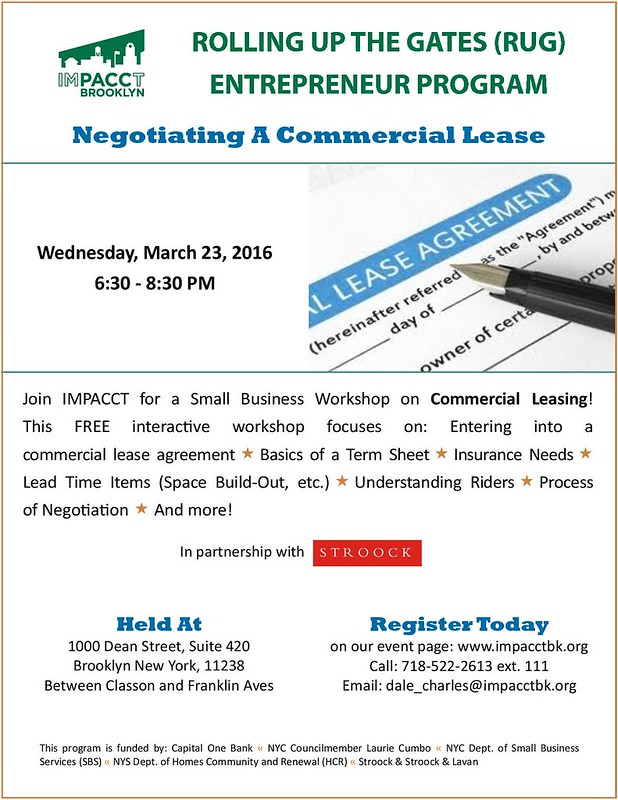 Don T Miss Our Workshops On Commercial Leases Register Now