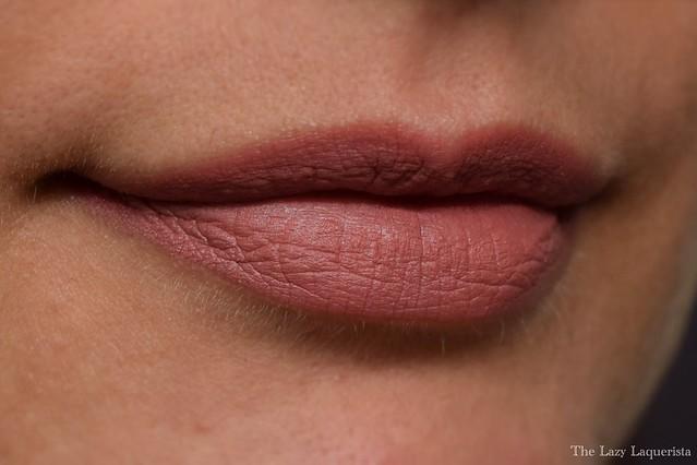 NUDESTIX matte lipstick Belle swatch