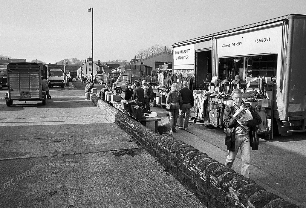 Bakewell Cattle Market 1990 The Old Market Merged Into T Flickr