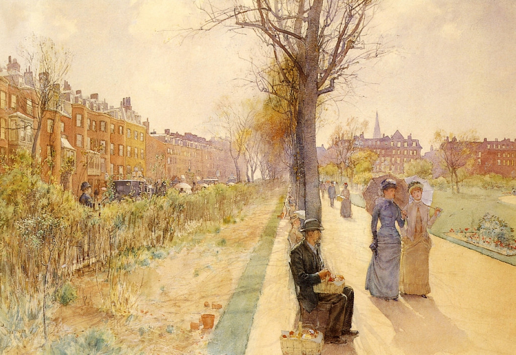 Boston Common by Childe Hassam, 1891