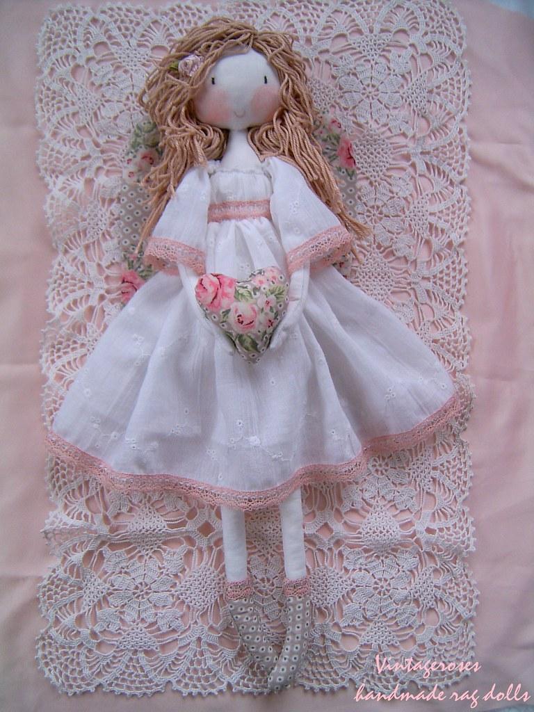handmade rag doll vintage angel handmade dolls