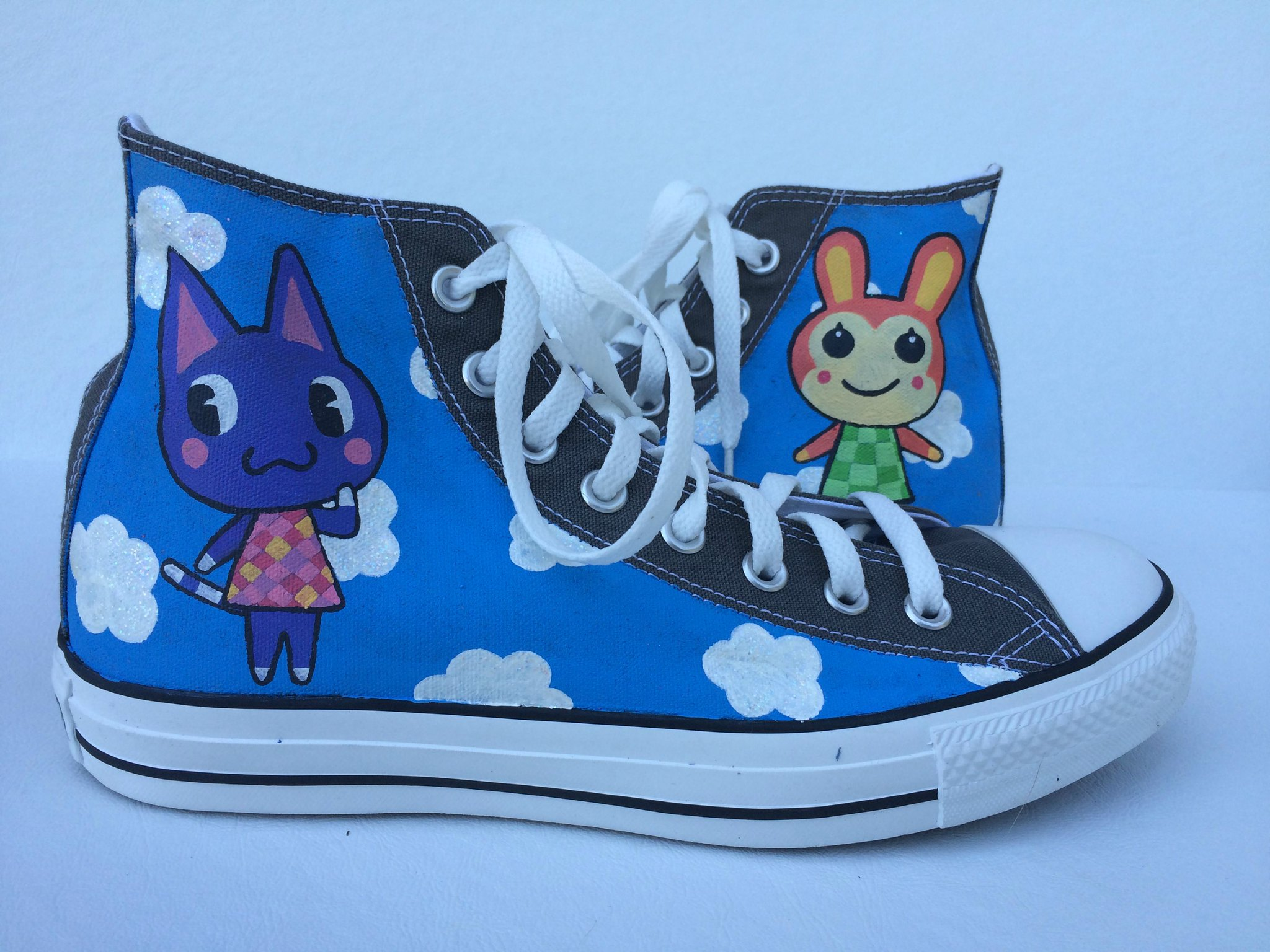 Animal Crossing sneakers by SheriffKarli