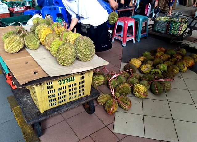 Sibu Central Market durians
