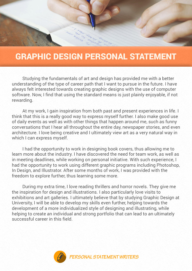 Personal statement for university graphic design