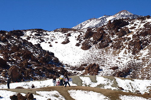Snow in Teide National Park, Tenerife
