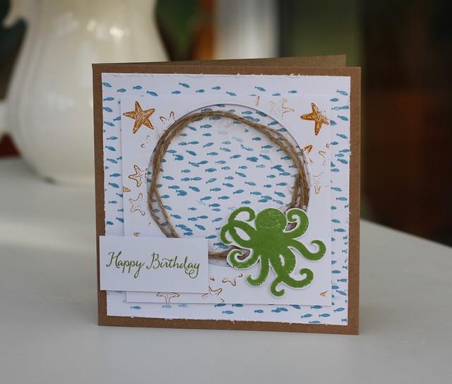Sea Street birthday card by StickerKitten