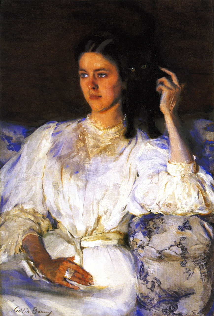 Young Woman with Cat by Cecilia Beaux, c.1893