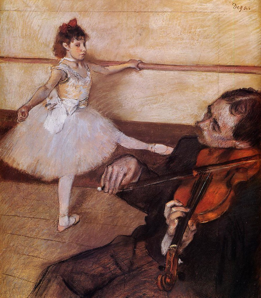 The Dance Lesson by Edgar Degas, c.1879