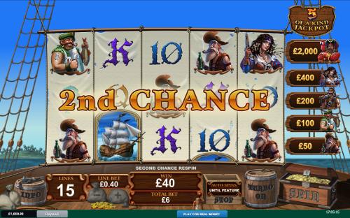 free Fortunate 5 2nd Chance Bonus