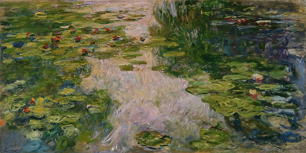 Bassin aux nymph as c monet w 1895 huile sur toile for Toile a bassin