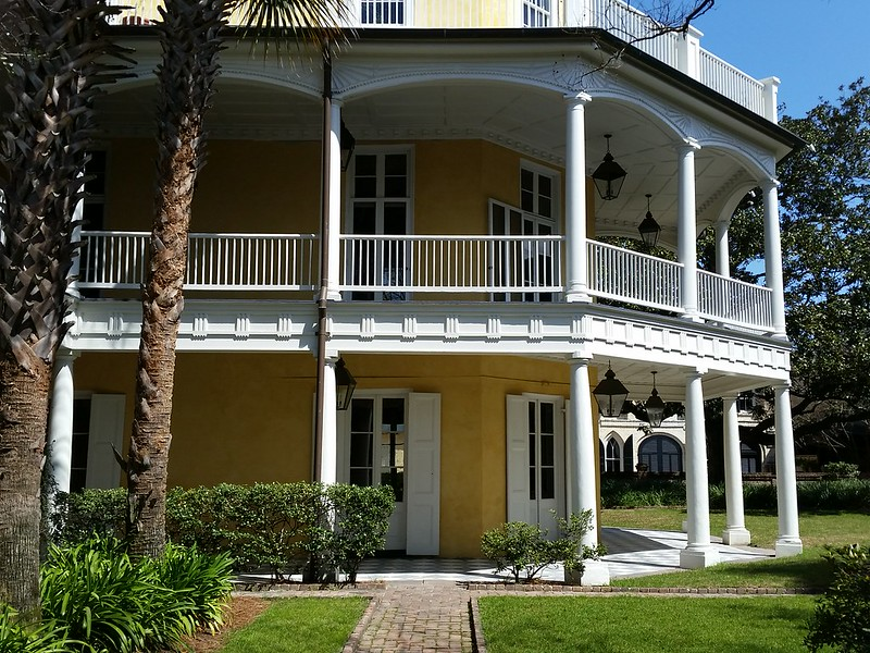 yellow with porches