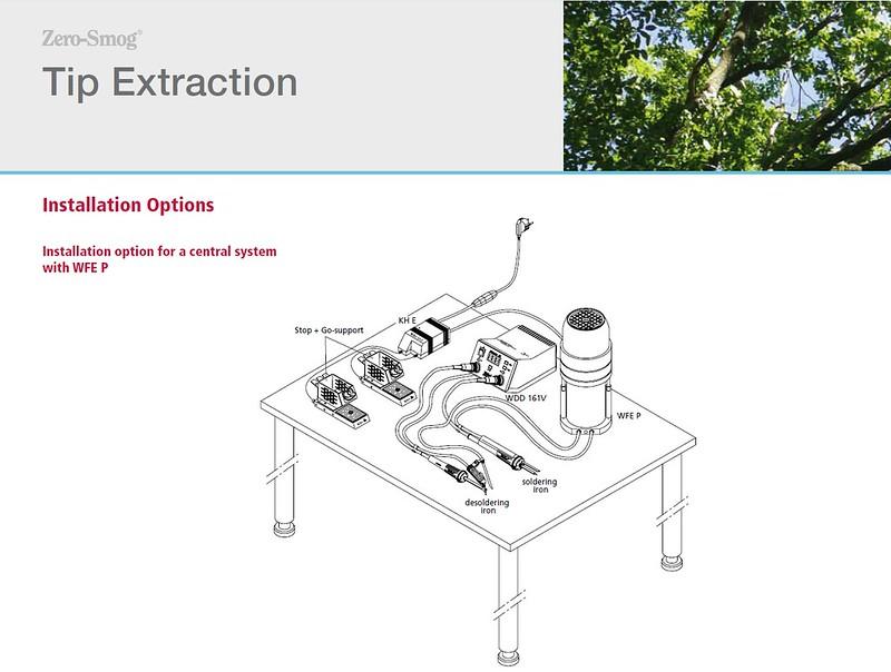 fs weller wfe2p soldering tip fume extraction unit zero. Black Bedroom Furniture Sets. Home Design Ideas