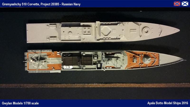 Corvette Russe Gremyashchy 510 Projet 20385 Gwylan Models 1/700 25376873846_93986567fa_c