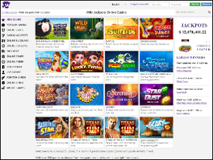 Wild Jackpots Casino Lobby