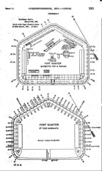 Fort Sumter sketch sketch showing the arrangement of guns, &c., on the first and third tiers