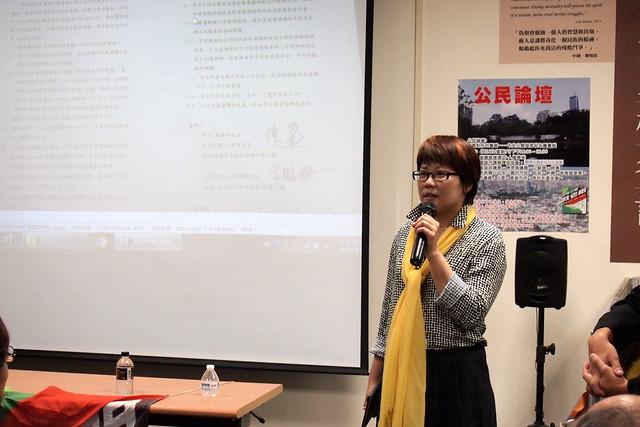 高雄市議員陳信瑜說,本案關注民眾不夠媒體也不報,市府在議會的態度更加強硬。攝影:李育琴