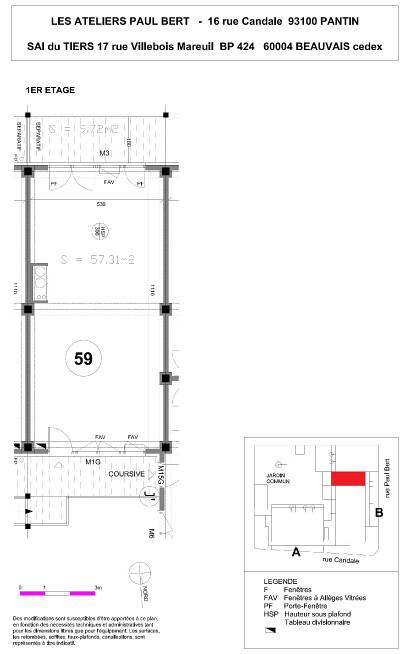 Les Ateliers Pault Bert - Plan de vente - Lot 59