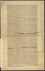 A draft of the Ordinance of 1787, with annotations in the margin which indicate changes made in the May 10, 1787 reading of the ordinance and ascribed to Nathan Dane. (Library of Congress)